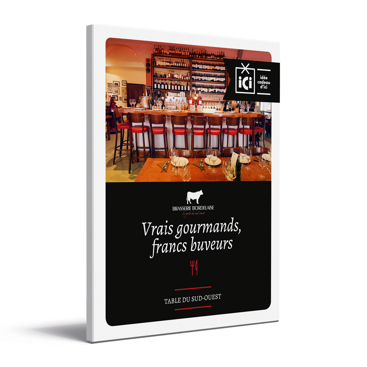 Coffret vrais gourmands, francs buveurs Brasserie Bordelaise recto ombre
