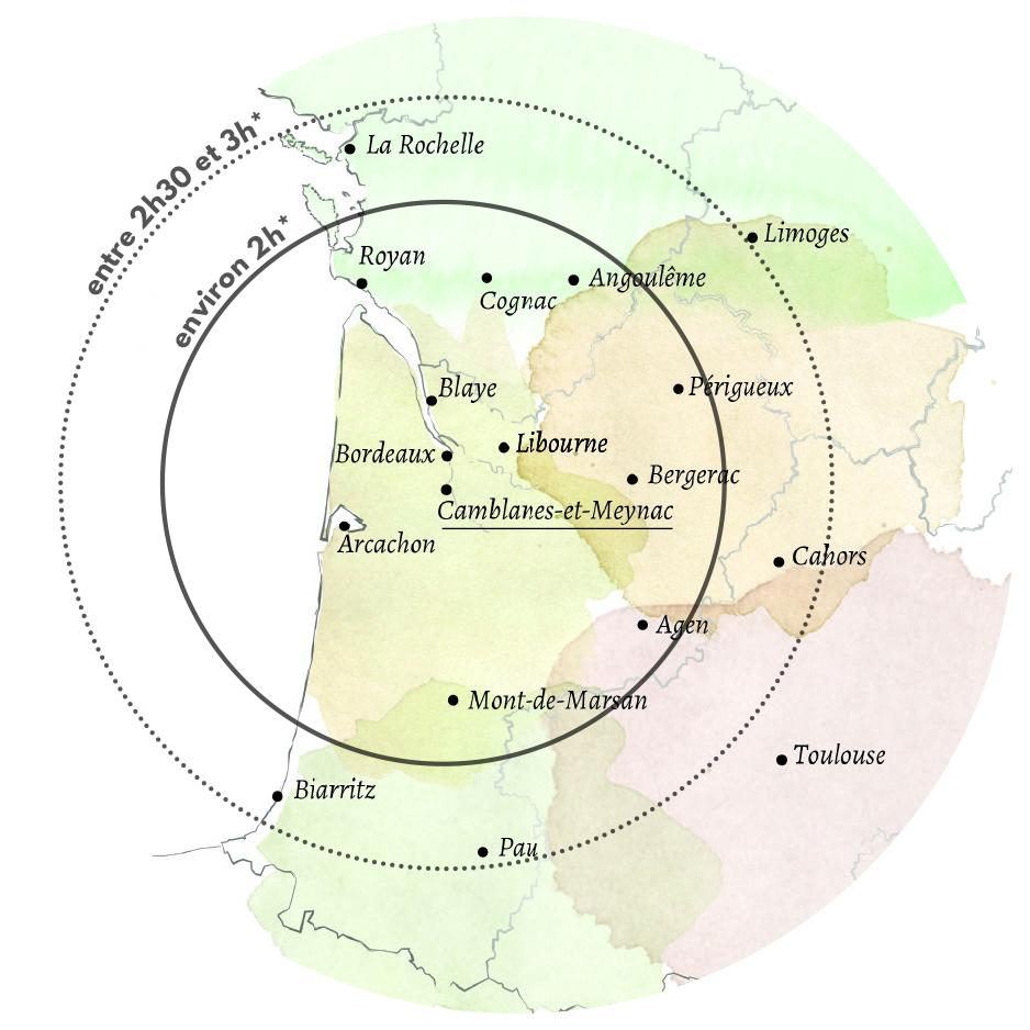 carte la maison du fleuve à Camblanes et Meynac